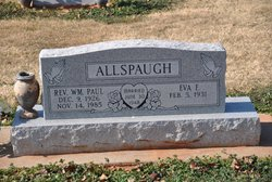 Rev William Paul Allspaugh