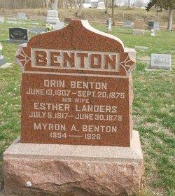 Esther <I>Landers</I> Benton