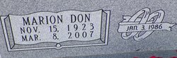 """Marion Donald """"Don"""" Finch"""