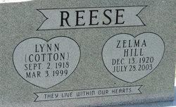 Zelma <I>Hill</I> Reese