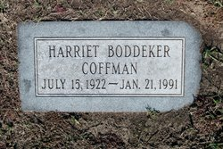 Harriet Catherine <I>Boddeker</I> Coffman