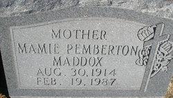 Mamie <I>Pemberton</I> Maddox