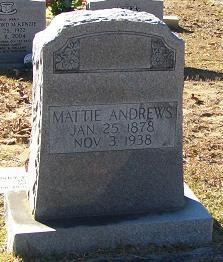 Mattie <I>Ginn</I> Andrews