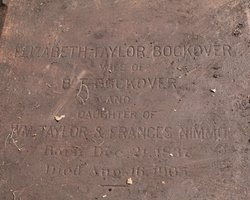 Elizabeth <I>Taylor</I> Bockover