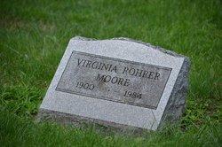 Virginia <I>Rohrer</I> Moore
