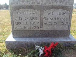 Sarah Eunice <I>Horn</I> Kyser