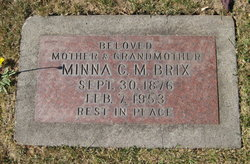 Minna Christina Margaretha <I>Petersen</I> Brix