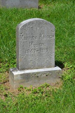 Matilda <I>Knoch</I> Moder