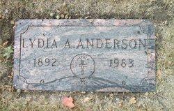 Lydia A <I>Strand</I> Anderson