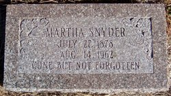 Martha <I>Shafer</I> Snyder