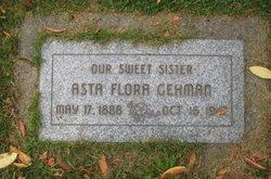 Asta Flora <I>Schmidt</I> Gehman
