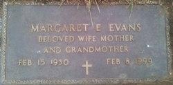 Margaret E. <I>Beckel</I> Evans