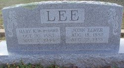 Mary Katherine <I>McWilliams</I> Lee