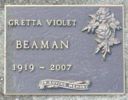 Gretta Violet <I>Hubbard</I> Beaman