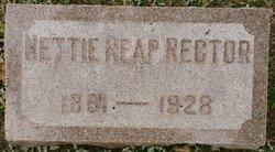 Mrs Nettie J. <I>Reap</I> Rector