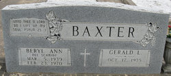 Beryl Ann <I>Schmidt</I> Baxter