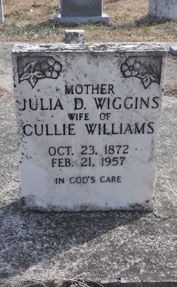 Julia <I>Wiggins</I> Williams