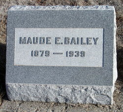 Maude E (Warner) <I>Bell</I> Bailey