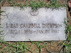 Sarah <I>Campbell</I> Thompson