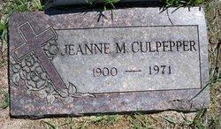 Jeanne M Culpepper