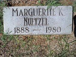 Marguerite K Nuetzel