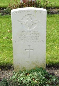 Private John Frederick Clayton