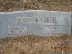 """Paulina Margaret """"Paula"""" <I>Williams</I> Retherford"""