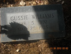 "Cora Augusta ""Gussie"" <I>Williams</I> Williams"