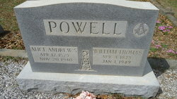 Alice <I>Andrews</I> Powell