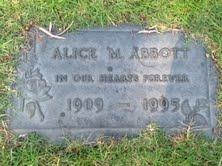 "Alice Margaret ""Alice"" <I>Wright</I> Abbott"
