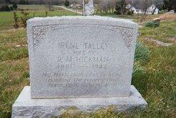 Irene <I>Talley</I> Hickman