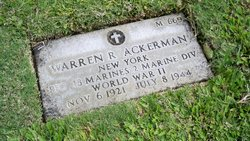 PFC Warren R Ackerman