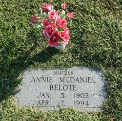 Annie <I>McDaniel</I> Belote