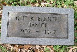 Otie K. <I>Bennett</I> Banage