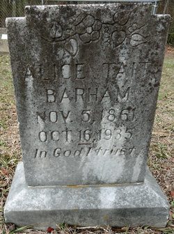 Alice <I>Tait</I> Barham