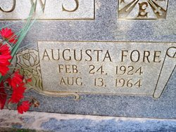 Augusta <I>Fore</I> Burrows