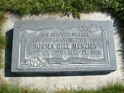 Norma Hill Thomas <I>Menzie</I> Wahlin