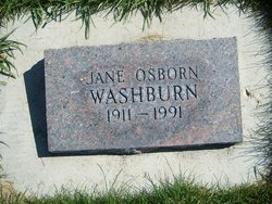 Jane <I>Osborn</I> Washburn