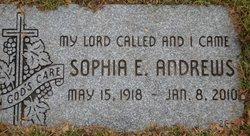Sophia E. <I>Brudzynski</I> Andrews