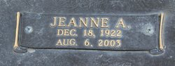 Jeanne A Hill
