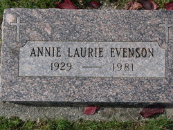 Annie Laurie <I>Moore</I> Evenson