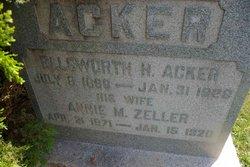 Annie M <I>Zellers</I> Acker