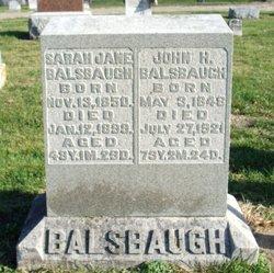 Sarah Jane <I>Fisher</I> Balsbaugh
