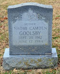 Martha Naomi <I>Camden</I> Goolsby