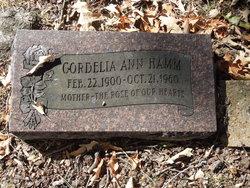 Cordelia Ann <I>Parker</I> Hamm