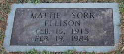Mattie Ada <I>York</I> Ellison