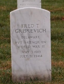 Pvt Fred Theodore Griskevich