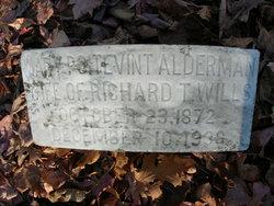 Mary Poitevint <I>Alderman</I> Wills