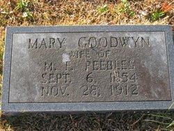 Mary <I>Goodwyn</I> Peebles