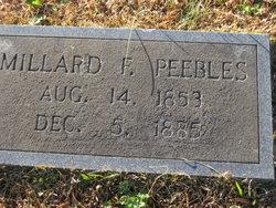 Millard F Peebles